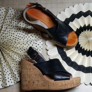 Hinge Cork Platform Sandals size 7.5